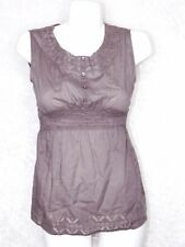 Bit & Bridle Small Empire Baby Doll Top Light Eggplant