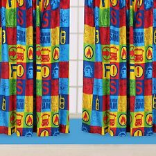 Fireman Sam Curtain Duty 66 x 72 Drop Inch Curtains Kids Bedroom 168x183cm