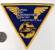 US Navy Air Station Lakehurst New Jersey Patch NAS Aircraft Carrier Engineering