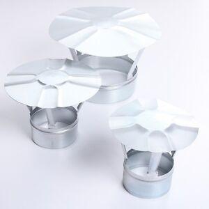 Regenhaube Regenhut Einsteck für Ofenrohre Kamin Schornstein verzinkt 6 Größen