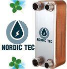 """INTERCAMBIADOR de calor de placas, Termocambiador NORDIC Tec 1"""" 125-285 kW"""