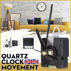 Atomic Radio Controlled Silent Wall Clock Movement Mechanism Hands UK MSF Signal