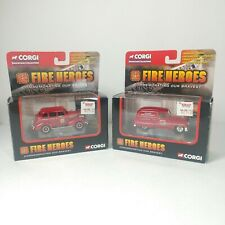 Lot 2 Corgi Showcase Collection Fire Heroes Newark Pontiac & Memphis Chevy MY18