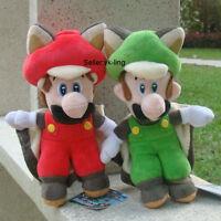 "2X Super Mario Bros Character Flying Bat Mario Luigi 9"" Plush Toy Stuffed Doll"