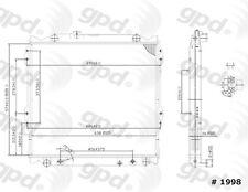 Global Parts Distributors 1998C Radiator