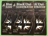 12 Fishing Tackle BLACK OUT Ronnie Rig Ready Made Teflon Coated Hooks Bait Screw