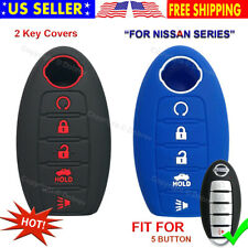 Silicone Remote Key Shell Fob Case Cover For Nissan Rouge Murano Maxima 5 Button