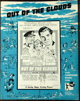 Aviation Out of the Clouds 1957 Original Pressbook Pilot 1950s Flight Attendant