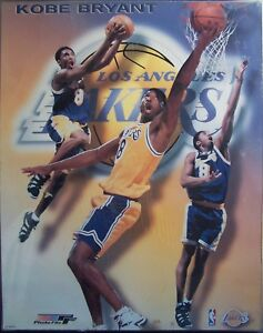 "KOBE BRYANT NBA Lakers Poster Photo File PF-KB98 Framed Plexi 16"" x 20"" Rare HTF"