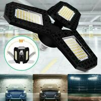 60/80W 8000lm LED Garage Shop Work Lights Ceiling Fixture Deformable Lamp E27