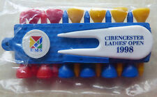 GOLF TEE HOLDER SET - CIRENCESTER LADIES' OPEN 1998 - NEW IN PACKET