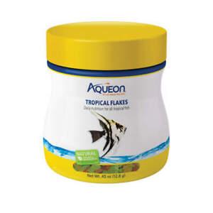 Aqueon Tropical Flakes Fish Food 0.45oz Jar CLOSEOUT