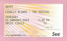 """Sheridan Smith """"LEGALLY BLONDE"""" Jill Halfpenny 2010 London Opening Weeks Ticket"""
