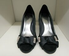 JOANNA HOPE MIDNIGHT BLACK EVENING DIAMANTE SHOES SIZE 5 WIDE FIT
