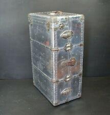 Rare Vintage Aluminium Wardrobe Trunk Chest Luggage