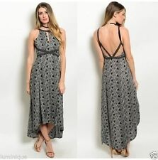 Hand-wash Only Casual Geometric Maxi Dresses for Women
