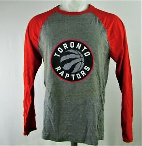 Toronto Raptors NBA Fanatics Men's Gray Long Sleeve T-Shirt