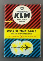 KLM ROYAL DUTCH AIRLINES WORLD TIMETABLE SUMMER 3 1960 K.L.M. ROUTE MAP