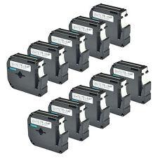 10 pack for Brother P-touch PT80 PT70 Black on White Label Tape M-K231 MK231