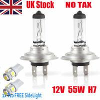 2 x H7 Halogen Headlamp Super Bright White Headlight Bulb Car Bulb Lamp 12V 55w