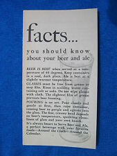 1941 Pamphlet Facts You Should Know About Beer and Ale Anti Prohibition
