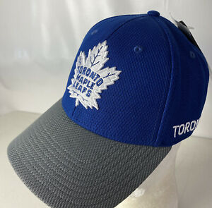 Adidas Toronto Maple Leafs Hat Cap NEW Spellout Classic Logo Stretch Sz S/M