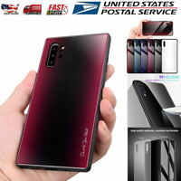 For Samsung Galaxy S9/S10+/Note 10 Plus Case Tempered Glass Gradient Phone Cover