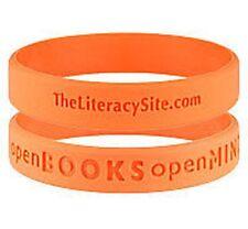 Literacy Charity Wristband Books &Minds Children ORANGE