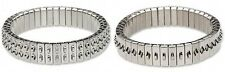 LOT 2  Stainless Steel CHA-CHA Stretch Expansion Bracelet ~ 1-row and 2- row
