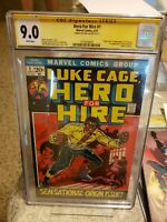 Hero For Hire #1 Origin/1st App Luke Cage CGC SS   9.0 white pages Stan Lee
