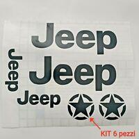 Set 6 adesivi Jeep Wrangler Renegade personalizzare tuning sticker kit completo