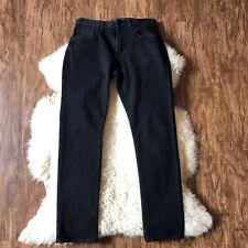 Mens Old Navy Stretch Slim Black Rinse Jeans Size 30x30