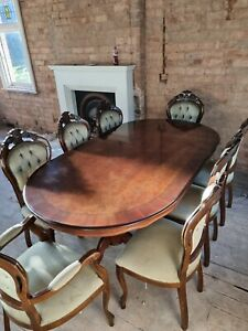 Italian-Style Dining Table and 8 Chairs