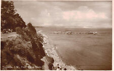 RPPC,Shanklin,Isle of Wight,U.K.View of Pier from Apley Steps,c.1909