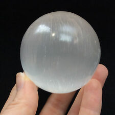Selenite Crystal Sphere 170443 59mm 2.3inch Stone of Mental Clarity Cleansing