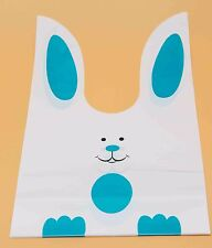 Food Package Bakery Bags | Cookie Bread Candy Gift | Cute Blue Rabbit | 50pcs