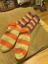 Hand Knit, Colourful and Warm Socks, Ladies size Medium hippie natty comfy