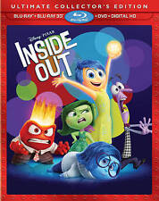 DVD: Disney Pixar Inside Out 3D Exclusive Ultimate Collector's Edition ( 3D Blu
