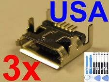 3x of OEM Type USB Charging Port Micro Charger for JBL Flip 3 Bluetooth Speaker