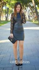 ZARA FAUX LEATHER AND LACE DRESS SIZE MEDIUM (B10) REF: 0387 022