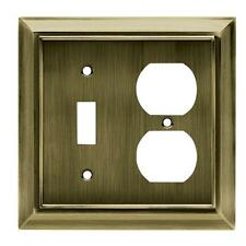 W10538-AB Architect Antique Brass Switch Duplex Combo Cover Plate
