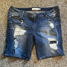 Torrid Women's Distressed Denim Shorts Size 18