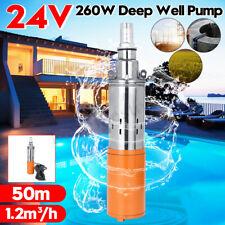 Deep Well Submersible Pump 24V 50M Max Lift Solar Powdered Water Pump Farm&Ranch