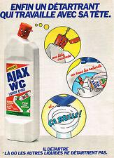 PUBLICITE ADVERTISING 104  1980  AJAX WC   détartrant