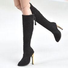 1/6 Custom Female Long Boots High-heeled Shoe for Phicen Verycool HT ZC Flirty