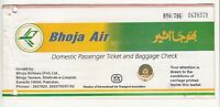 1997 PAKISTAN BHOJA AIR AIRLINES PASSENGER TICKET AND BAGGAGE CHECK