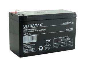 ULTRAMAX NP7-12, 12V 7AH (as 6Ah & 9Ah) EMERGENCY LIGHT LIGHTING BATTERY