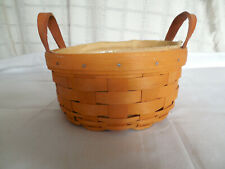 Nice small round Longaberger basket liner protector combo 2000 signed