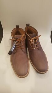 ECCO Jeremy Turn Hybrid Brown Leather Chukka Ankle Boots Men's Size 10 US, 44 EU