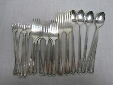 "19 PCS NIAGARA CO. 1930 ""GLENDALE"" SILVERPLATE FLATWARE"